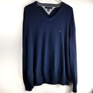 Tommy Hilfiger Sweater Vneck Navy XXL
